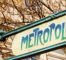 Paris Metro Sign Color Sticker
