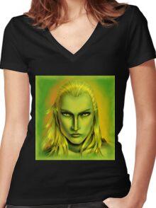 Green Legolas Greenleaf Women's Fitted V-Neck T-Shirt