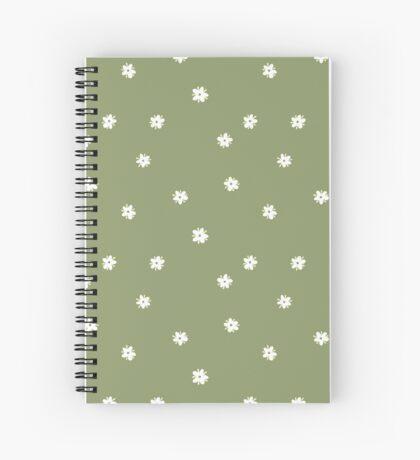 Elderflowers on green, sparse Spiral Notebook