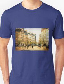 Place Dauphine Paris Grunge Unisex T-Shirt