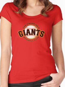 SAN FRANCISCO GIANTS BASEBALL Women's Fitted Scoop T-Shirt