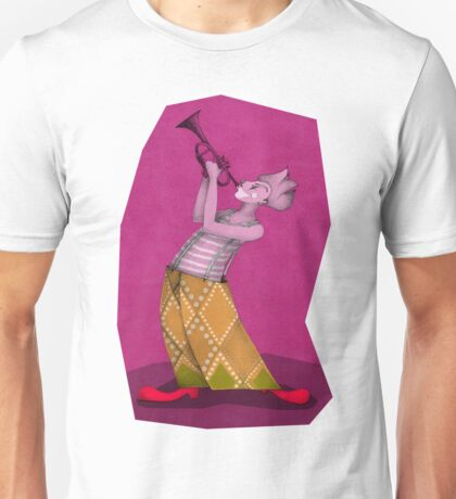 clown trompetist on magenta Unisex T-Shirt