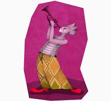 clown trompetist on magenta Unisex T-Shirt