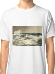 Thomas Moran - The Much Resounding Sea. Sea landscape: sea view,  yachts,  holiday, sailing boat, coast seaside, waves and beach, marine, seascape, sun clouds, nautical, ocean Classic T-Shirt