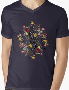 Moon Garden Mens V-Neck T-Shirt