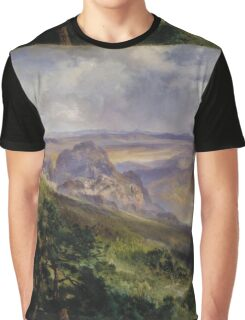 Thomas Moran - Valley Of Cuernavaca 1903. Mountains landscape: mountains, rocks, rocky nature, sky and clouds, trees, peak, forest, rustic, hill, travel, hillside Graphic T-Shirt