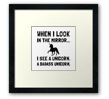Badass Unicorn Framed Print