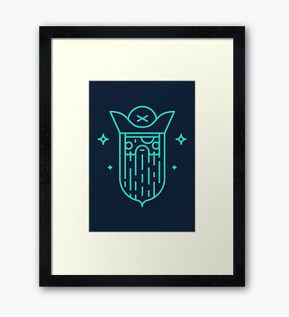 Mysterious pirate Framed Print