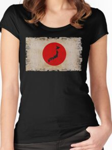 Japan - The Rising Sun Women's Fitted Scoop T-Shirt