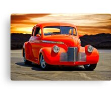 1941 Chevrolet Master Deluxe Coupe 'Reno Sunrise' Canvas Print