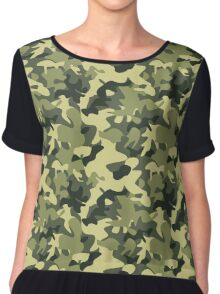Military camouflage pattern Chiffon Top