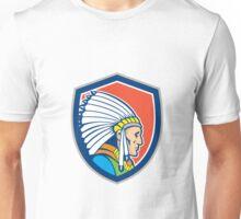 Native American Indian Chief Cartoon Unisex T-Shirt