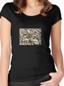 Sea pebbles Women's Fitted Scoop T-Shirt