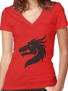Dragon Women's Fitted V-Neck T-Shirt