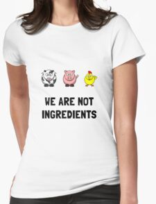 WeAre Not Ingredients Womens Fitted T-Shirt