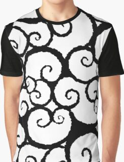 Black & White Swirl Graphic T-Shirt