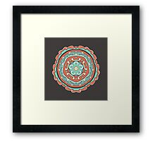 Abstract ornamental vintage seamless pattern Framed Print