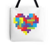 Tetris 8-Bit Heart  Tote Bag
