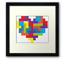 Tetris 8-Bit Heart  Framed Print