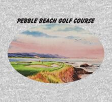 Pebble Beach Golf Course With Banner One Piece - Long Sleeve