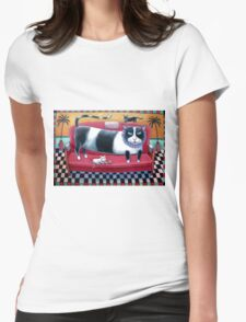 Black and White Cats Womens Fitted T-Shirt