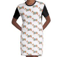 Corgi Tourist  Graphic T-Shirt Dress
