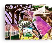 Bridges Collage - Time to Cross Over... Canvas Print