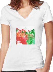 Lover Women's Fitted V-Neck T-Shirt