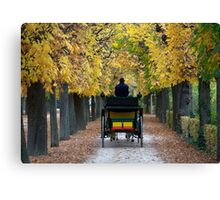 Fiacre In Chestnut Alley Canvas Print