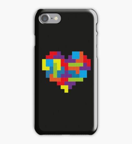 Tetris 8-Bit Heart  iPhone Case/Skin