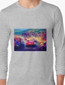 """VINTAGE GRAND PRIX AUTO"" Racing Print Long Sleeve T-Shirt"
