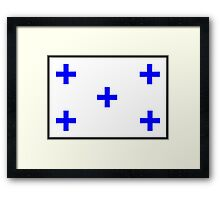 Number 0 Flag Framed Print