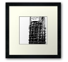 Danger of Death - High Key Framed Print