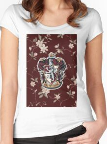 Floral Crest Women's Fitted Scoop T-Shirt