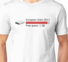 1 GB free space Unisex T-Shirt
