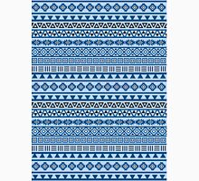 Aztec Influence Pattern Blues Black White Unisex T-Shirt