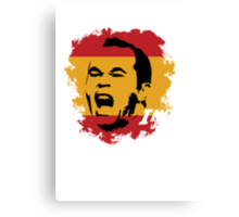 Spain Andres Iniesta Football World Cup 2014 Canvas Print