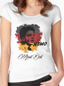 Germany Mesut Ozil Football World Cup 2014 Women's Fitted Scoop T-Shirt