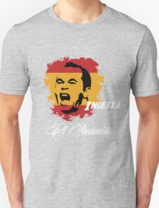 Spain Andres Iniesta Football World Cup 2014 Unisex T-Shirt