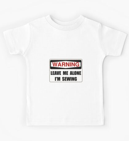 Warning Sewing Kids Tee
