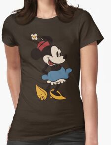 Minnie Retro Womens Fitted T-Shirt