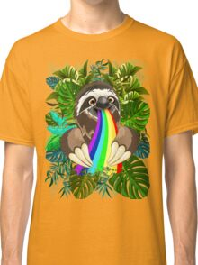 Sloth Spitting Rainbow Colors Classic T-Shirt