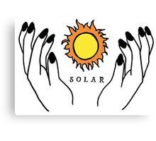 Solar Hands Canvas Print