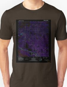 USGS TOPO Map Alaska AK Fairbanks D-1 SW 353665 1992 25000 Inverted Unisex T-Shirt