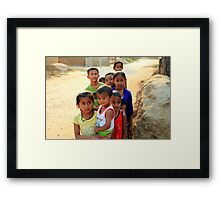 Village Children Framed Print