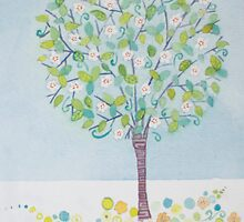 Spring Apple Tree by Anita Murphy