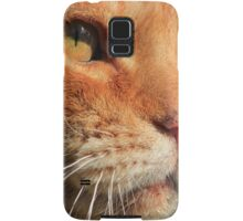 Close-up of ginger cat Samsung Galaxy Case/Skin