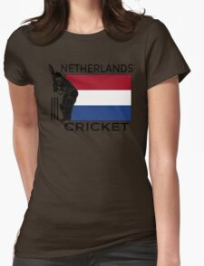 Netherlands Cricket Womens Fitted T-Shirt