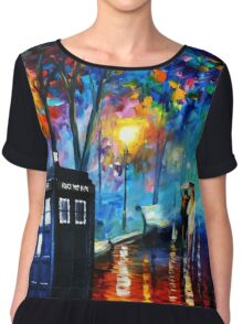 Tardis Romantic Night Chiffon Top