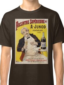 Unknown - Absinthe Superieure Beverage Poster. Man portrait: alcoholic, drinker, drunkard, wino,  fun,  hangover, humor, bottle, glass,  joy, meeting Classic T-Shirt